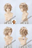 Final Fantasy X Tidus Anime Short Cosplay Costume Wig + Free Ship +CAP