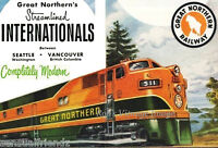 Great Northern Railroad Internationals Seattle Vancover Poster1940-1950 Train sm