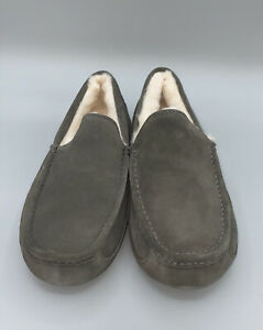 Ugg Ascot Suede Wool Slip On Loafer Slipper Forest Green Men's Size 10 New