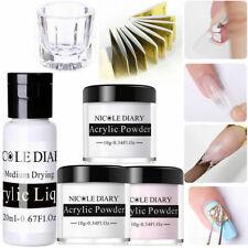 Nicole diario 6Pcs Uñas Acrílico Polvo de Acrílico Forma de Taza de cristal líquido Pegatinas Kit