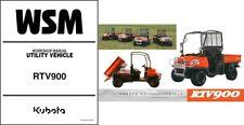 Kubota RTV900 UTV WSM Service Repair Workshop Manual on a CD  -  RTV 900