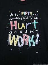 "Novelty Funny ""After 50""Black T-Shirt Birthday Over the Hill  Size XL (42-46"")"