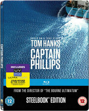 CAPTAIN PHILLIPS BLU RAY STEELBOOK - BRAND NEW SEALED - TOM HANKS PHILIPS