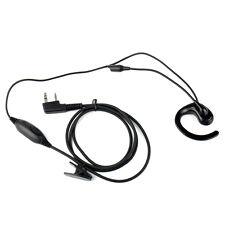2 Pin stanghetta Mic PTT cuffia per  Kenwood KPG77D TK-208B AOFENG WOUXUN Radio