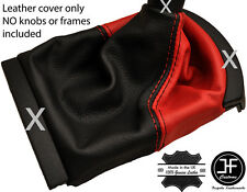 BLACK & RED REAL LEATHER MANUAL GEAR GAITER FITS SEAT IBIZA CORDOBA 2002-2008