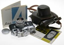 SUMMICRON DR 2/50mm CHROME METER LEICA 35mm FILM M4 CAMERA CASED JUST SERVICED