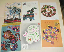 CHINA PR  6 DIFF. MAXI CARDS NEW YEARS UNADDRESSED