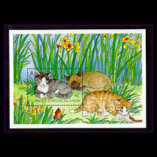 Turks & Caicos, Sc #1151, MNH, 1995, S/S, Cats, CA308