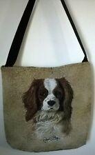 "New ListingCavalier King Charles Spaniel Tapestry Tote Bag, 17""X17"",R.May Image"