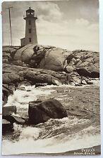 Peggys Point Lighthouse, NOVA SCOTIA, Halifax, CANADA Photo Post Card 1926-39