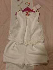 Ted Baker Girls White/cream Playsuit Age 5 Yrs