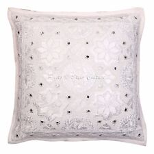 Indian Star Embroidered Cotton Pillow Case Cover Home Decor Mirror Cushion Cover