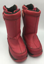 Lands' End Red Snow Boots Toddler 9 Waterproof Easy On and Off