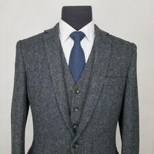 2-PC J.crew LUDLOW Gray Herringbone Moon Tweed Wool Sport Coat + Vest 38 R Small