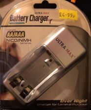 ULTRA MAX Battery Charger Charges AA & AAA NICD & NIMH Charge 2 Batteries