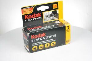 3 Rolls KODAK Black & White bw400cn 35mm Print Film 24 Exp ISO 400 C-41 Expired