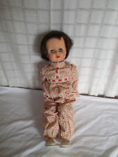 "Vintage EEGEE Susan stroller doll 23"" brown hair 1953-55"