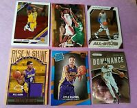 LEBRON JAMES ROOKIE & 2 OPTIC KYLE KUZMA RC CARD &RC JERSEY ANTHONY DAVIS LAKERS