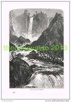 THE FALLS OF TERNI, ITALY, Book Illustration (Print) c1875