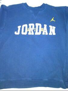 Boys Air Jordan Sweat Shirt Size Large Navy Blue