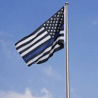 Blue Police Fire Fighter USA American Blue Line Flag CF