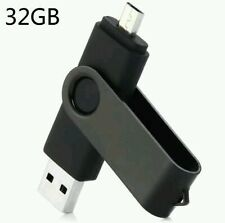 2 in 1 Clé USB  Flash drive 32G OTG USB2.0 + Micro USB Noir
