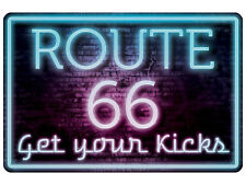 """Route 66 Get Your Kicks 8"""" x12"""" Aluminum Sign NEW MADE IN THE USA"""