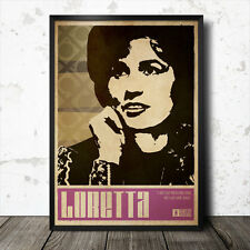 Loretta Lynn Country Music Art Poster Johnny Cash Dolly Parton Tammy Wynette