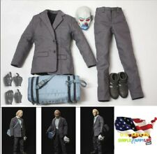1/6 Scale Bank Robber The Joker suit set w/ black gloves Batman toy hot ❶USA❶
