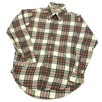 Hathaway Lochlana Cotton Wool Calgary Plaid Flannel Shirt Men's Medium Button Up