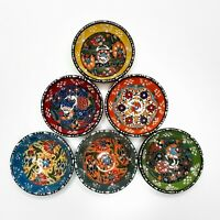 Hand Painted Ceramic Bowl Set Of 6 (8cm) Traditional Turkish Pottery Mezze Set