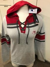 NWT Antigua Womens Sz Medium Cincinnati Reds Lightweight Hoody Reg. $44.99