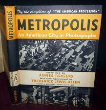 Metropolis, New York City in Photos, SIGND 1stEd/DJ Frederick Lewis Allen, Weyer