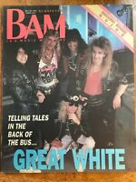 7/28/89 BAM MAGAZINE - GREAT WHITE - Heavy Metal ads