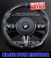 BLUE Edition DTM Real CARBON M Sport Steering Wheel for BMW M2 M3 M4 X5M X6M
