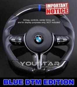 BLUE DTM Genuine CARBON Leather Steering Wheel for BMW M2 M3 M4 X3 X4 X5M X6M