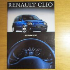 RENAULT CLIO 1.2 1.4 1.6 16V 1.9D RN RT Si RXE Initiale 3 5 Door Brochure 1999