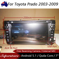 "7"" Android Quad Core Car DVD GPS PLAYER HEAD UNIT USB For Toyota Prado 2003-2009"