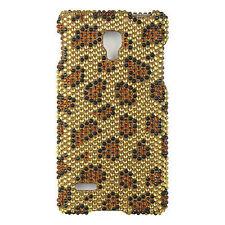 For LG Optimus L9 Crystal Diamond BLING Hard Case Snap On Phone Leopard