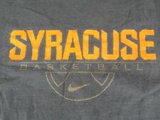 Syracuse Orange Basketball Size Xl Blue T-Shirt by Nike Elite 100% Cotton