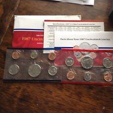 1987 D & P Uncirculated Mint Set w/envelope