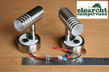 2 x Campervan LED Reading Lights, Motorhome, Caravan LED Spotlights/sidelights