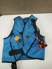 Vintage Blue Scubapro Buyoncy Snorkel Diving Vest Medium (b32)