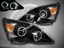 2007 2008 2009 2010 2011 HONDA CR-V CCFL DUAL HALO PROJECTOR HEADLIGHTS BLACK