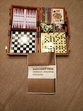 Reduced! Whitetails Unlimited Vintage Board Game Set Leatherette Case