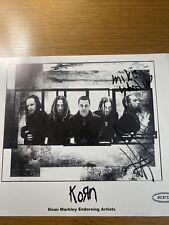 Korn signed autographed Photo