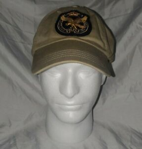 Polo Ralph Lauren RLPC NY 1st Eagle Division Leather Strap Baseball Cap Hat