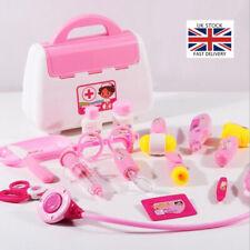 15Pcs Kids Doctor Medical Toy Set Nurse Carry Box Role Play Pretend Kit Case UK