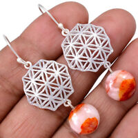 Hematoid Quartz 925 Sterling Silver Earrings Jewelry AE100301 121R