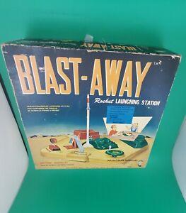 Vintage 1959 Blast-Away Rocket Launching Station Original Box Space Toy Hasbro